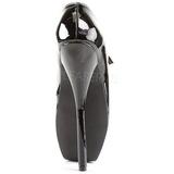 Negro Charol 18 cm BALLET-08 Fetish Zapatos de Salón