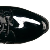 Negro Charol 19 cm TABOO-2023 plataforma botas de mujer con cordones