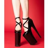 Negro Charol 25,5 cm Pleaser BEYOND-087 Plataforma Zapatos de Salón