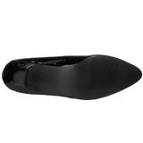 Negro Charol 5 cm FAB-420W Calzado de Salón Planos Tacón