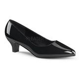 Negro Charol 5 cm FAB-420W Zapato de Salón para Hombres