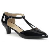Negro Charol 5 cm FAB-428 zapatos de salón tallas grandes