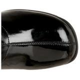 Negro Charol 5 cm RETRO-300 Botas Tacón Alto Mujer