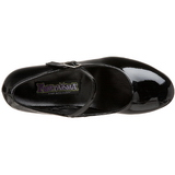 Negro Charol 5 cm SCHOOLGIRL-50 Zapato Salón Clasico para Mujer