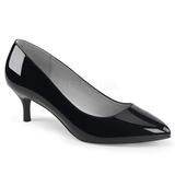 Negro Charol 6,5 cm KITTEN-01 zapatos de salón tallas grandes