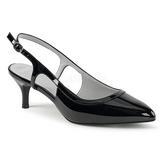 Negro Charol 6 cm KITTEN-02 zapatos de salón tallas grandes