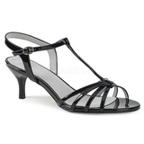 Negro Charol 6 cm KITTEN-06 sandalias tallas grandes