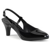 Negro Charol 7,5 cm DIVINE-418 zapatos de salón tallas grandes