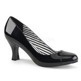Negro Charol 7,5 cm JENNA-01 zapatos de salón tallas grandes