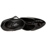 Negro Charol 8 cm DIVINE-415W Zapato de Salón para Hombres
