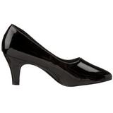 Negro Charol 8 cm DIVINE-420W Zapatos de Salón para Hombres