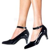 Negro Charol 8 cm DIVINE-431W Zapatos de Salón para Hombres