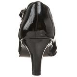 Negro Charol 8 cm DIVINE-440 Calzado de Salón Planos Tacón
