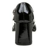 Negro Charol 8 cm GOGO-50 Zapatos de Salón para Hombres