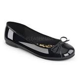 Negro Charol ANNA-01 zapatos de bailarinas tallas grandes