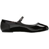 Negro Charol ANNA-02 zapatos de bailarinas tallas grandes