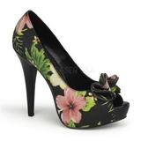 Negro Flores 13 cm LOLITA-11 Zapatos de tacón altos mujer