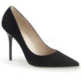 Negro Gamuza 10 cm CLASSIQUE-20 zapatos de stilettos tallas grandes