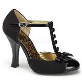 Negro Gamuza 10 cm SMITTEN-10 Calzado de Salón Planos Tacón