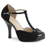 Negro Gamuza 11,5 cm PINUP-02 zapatos de salón tallas grandes