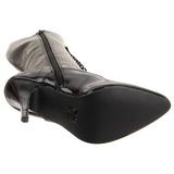 Negro Lacado 13 cm SEDUCE-2020 Botas de Cordones Mujer