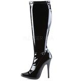 Negro Lacado 15 cm DOMINA-2000 Tacones Altos Botas Mujer