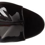 Negro Lacado 16,5 cm Pleaser ILLUSION-1018 Plataforma Botines Altos