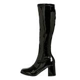 Negro Lacado 8,5 cm Funtasma GOGO-300 Botas Media Mujer