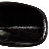Negro Lacado 8 cm GOGO-3000 Botas mosqueteras over the knee