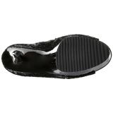 Negro Lentejuelas 15 cm PLEASER BLONDIE-R-3011 Botas Over Knee Plataforma