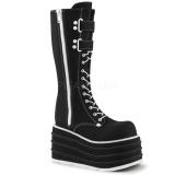 Negro Lona 10 cm MORI-310 botas demonia plataforma