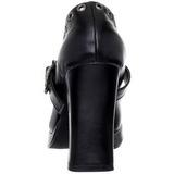 Negro Mate 10,5 cm CRYPTO-05 Góticos Zapatos de Salón Plataforma
