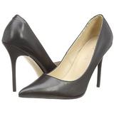Negro Mate 10 cm CLASSIQUE-20 Stiletto Zapatos Tacón de Aguja