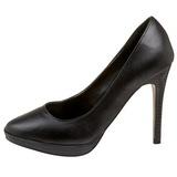 Negro Mate 11 cm BLISS-30 Stiletto Zapatos Tacón de Aguja