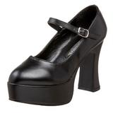 Negro Mate 11 cm MARYJANE-50 Mary Jane Plataforma Zapato de Salón