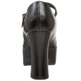 Negro Mate 11 cm MARYJANE-50 Mary Jane Plataforma Zapatos de Salón