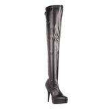 Negro Mate 13,5 cm INDULGE-3063 over knee botas altas con tacón