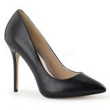 Negro Mate 13 cm AMUSE-20 Stiletto Zapatos Tacón de Aguja