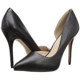 Negro Mate 13 cm AMUSE-22 Zapato Salón Clasico para Mujer