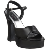 Negro Mate 13 cm DEMONIA DOLLY-09 Tacones Altos Plataforma