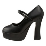 Negro Mate 13 cm DOLLY-50 Mary Jane Plataforma Zapatos de Salón