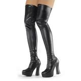Negro Mate 13 cm ELECTRA-3000Z over knee botas altas con tacón