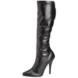 Negro Mate 13 cm Pleaser SEDUCE-2000 Botas Media Mujer