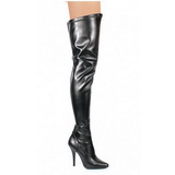 Negro Mate 13 cm SEDUCE-3000 over knee botas altas con tacón