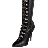 Negro Mate 13 cm SEDUCE-3024 over knee botas altas con tacón