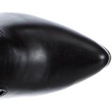 Negro Mate 13 cm SEDUCE-3050 Largas Botas Altas Del Muslo