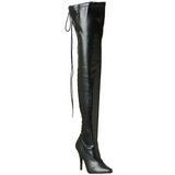 Negro Mate 13 cm SEDUCE-3063 over knee botas altas con tacón