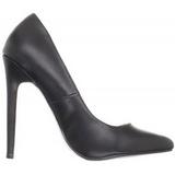 Negro Mate 13 cm SEXY-20 zapatos tacón de aguja puntiagudos