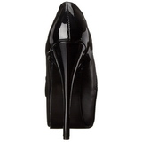 Negro Mate 14,5 cm Burlesque TEEZE-20 Zapatos de tacón altos mujer