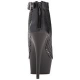 Negro Mate 15 cm DELIGHT-1011 botines con suela plataforma de mujer